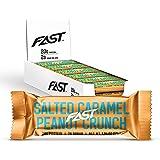 FAST BRANDS Salted Caramel Peanut Crunch, 20 Gram Protein Bars (Pack of 12)