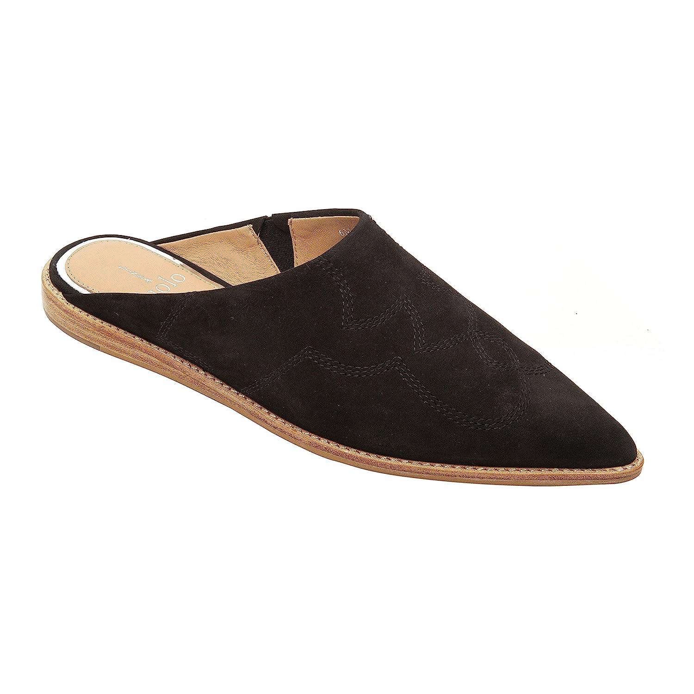 Aubrey   Women's Pointy Toe Slip-On Flat Mule Leather or Suede B07958MTGG 6 M US Black Suede