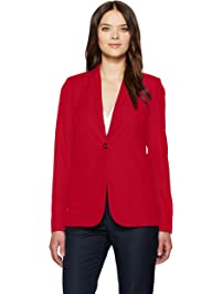T Tahari Womens Riesling One Button Crepe Blazer Blazers or Sports Jacket