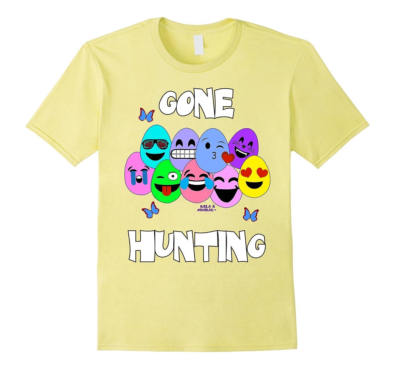 Gone Egg Hunting Shirt Emoji Easter Eggs Cute Emoji Shirt Th Teehelen