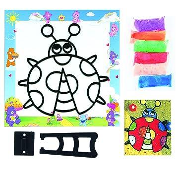 Malen Mit Knete Auf Karton Marienkäfer Amazonde Spielzeug