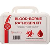 Bloodborne Pathogen/Body Fluids Cleanup Kit w/Fluid Solidifier, Biohazard Bag & Personal Protection Clothing - OSHA Requirement