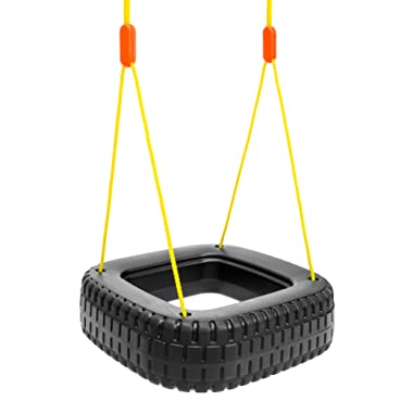 Best Choice Products Kids Outdoor 2-Children Tire Swing Set for Tree, Patio, Backyard, Door Frame w/ 110lb Capacity