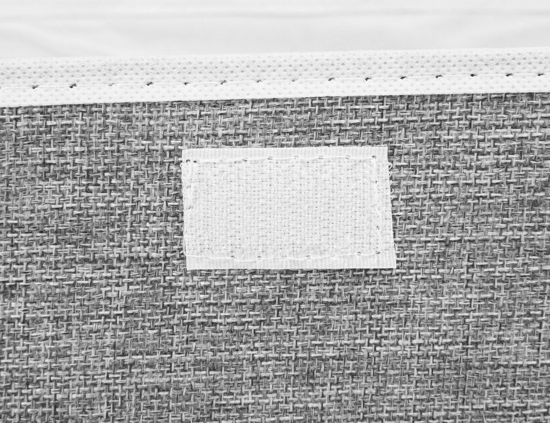 paniers de Rangement en Tissu de Coton paniers avec Poign/ées et couvercles Organisation de blanchisserie de R/écipient Pliable EZ GENERATION Storage Boxes Set DE 2 Gris Clair