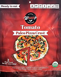 product image for Paleo Pizza Crust | Flavored Organic Gluten Free, Dairy Free, Soy Free, Nut Free and Vegan Pizza Crust (Tomato, 2 Pack)