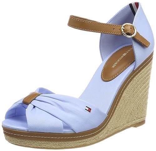 Tommy Hilfiger Iconic Basic Closed Toe Wedge, Alpargata Para Mujer, Beige (Cobblestone 068), 40 EU amazon-shoes el-beige Cuña