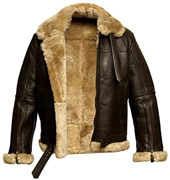 cfeacb732 RAF Bomber Ginger Aviator British Sheepskin Shearling Leather Jacket