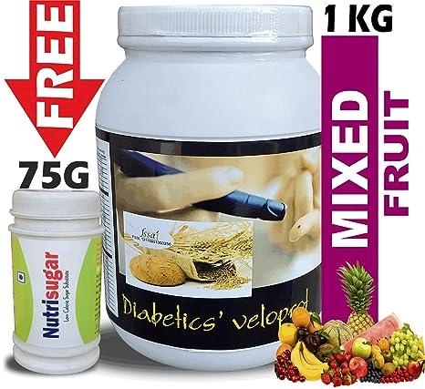 Buy DEVELO DIABETICS' VELOPROT 1KG [MIXED FRUIT] + NUTRISIGAR 75 GM