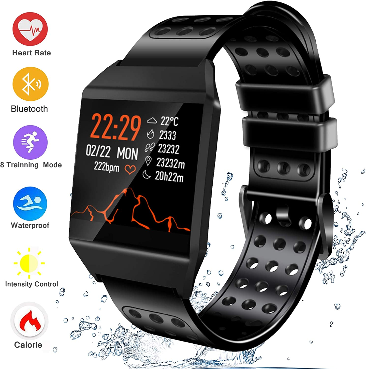 Amazon.com: Fitness Tracker reloj inteligente, rastreador de ...