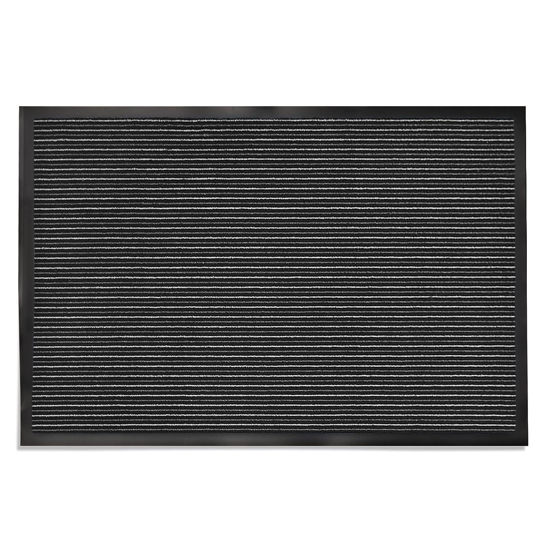 Tapis entree casa pura® paillasson, couloir, cuisine, bureau | anti-dérapant et absorbant | Tango, 90x150cm - gris