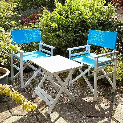 Flora directores Collection de mesa y juego de sillas azul DIABLA ...