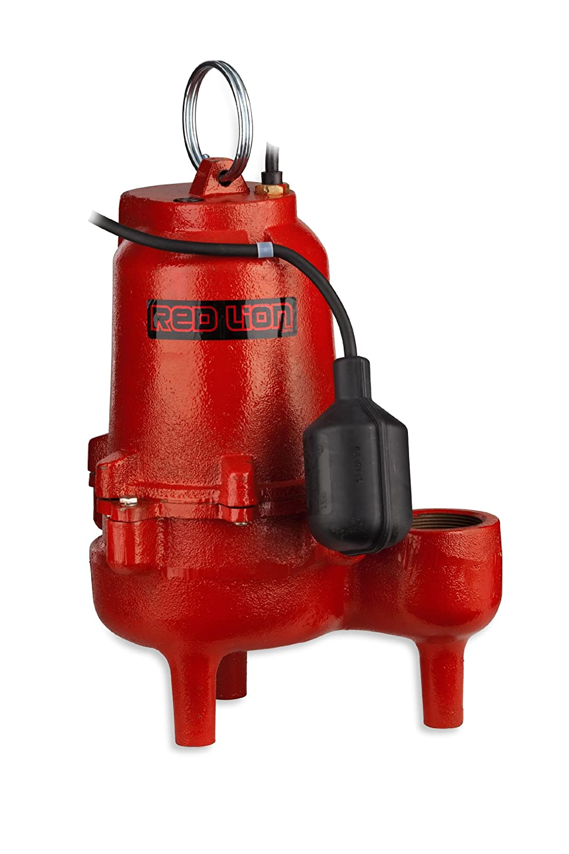 Red Lion RL52WAM 1/2-HP 9000-GPH Cast Iron Sewage Pump with Tethered Switch 620051