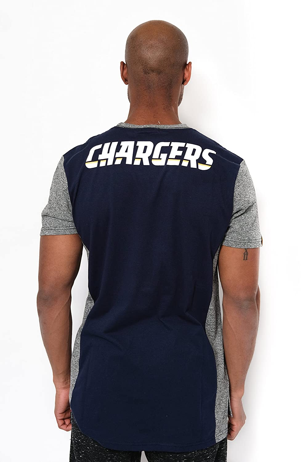 733452d8 Ultra Game NFL Los Angeles Chargers Men's T Raglan Block Short Sleeve Tee  Shirt, Team Color, Navy, Medium