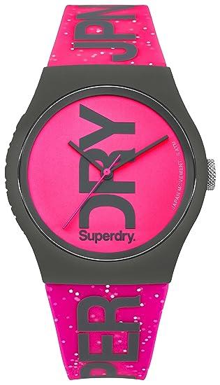 Superdry Reloj Analogico para Mujer de Cuarzo con Correa en Silicona SYL189PP