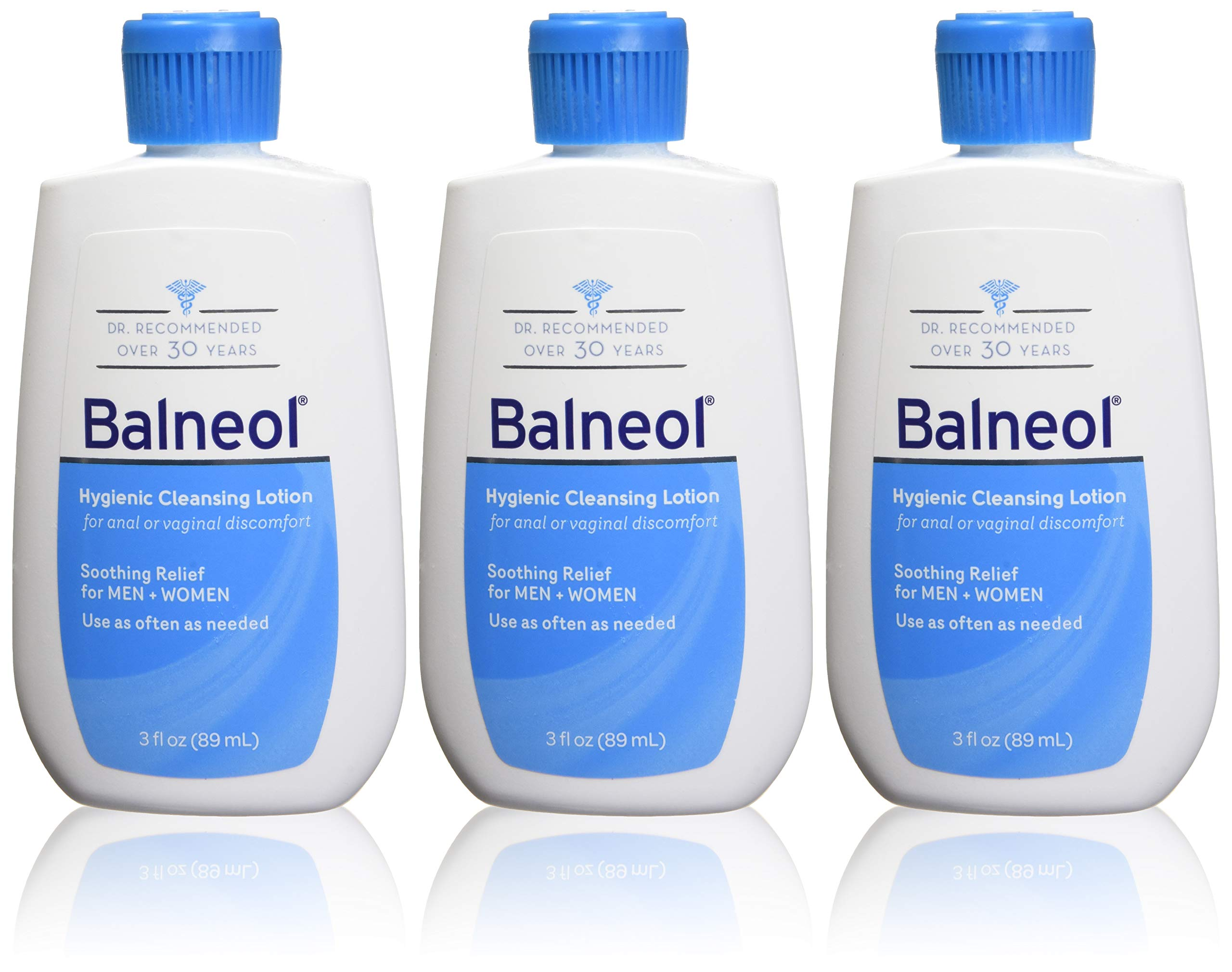Balneol Hygienic Cleansing Lotion, 3 oz. (Pack of 3)