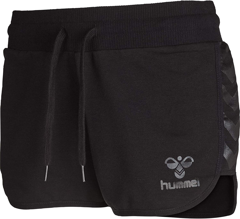 hummel Classic Bee Tech para Mujer Pantalones Cortos Negro Negro Talla:L