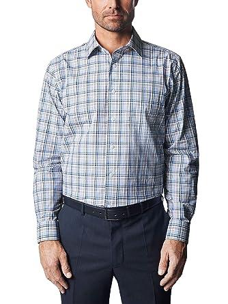 Abstand wählen besser Preis vergleichen Walbusch Herren Hemd Bügelfrei Kent-Kragen Comfort Fit 100 ...