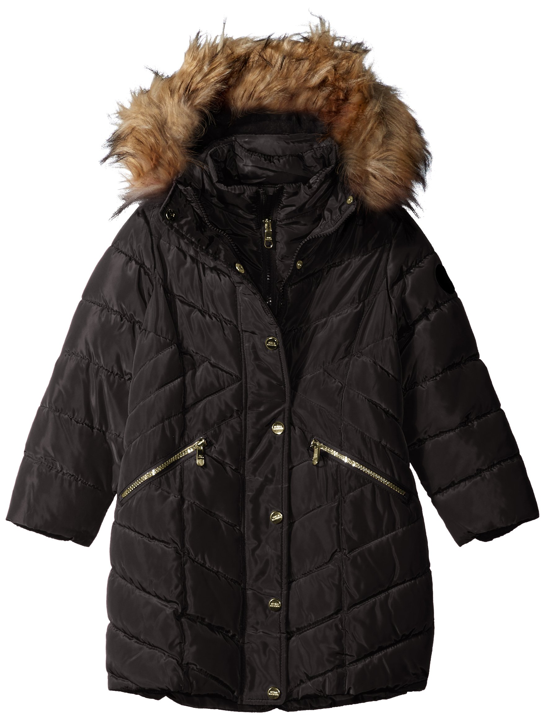Steve Madden Big Girls' Bubble Jacket (More Styles Available), Long Bubble-A1043-Black, 7/8
