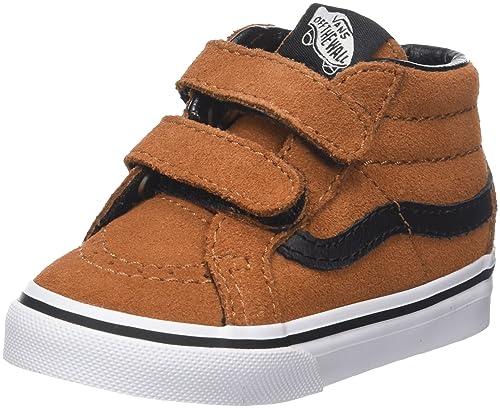 073722b5fc96f1 Vans Toddlers Sk8-Mid Reissue V (Suede) Glazed Ginger Black Skate Shoe