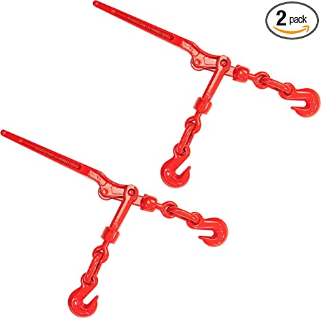 Lever Chain Load Binder with Grab Hooks 3//8 x 1//2