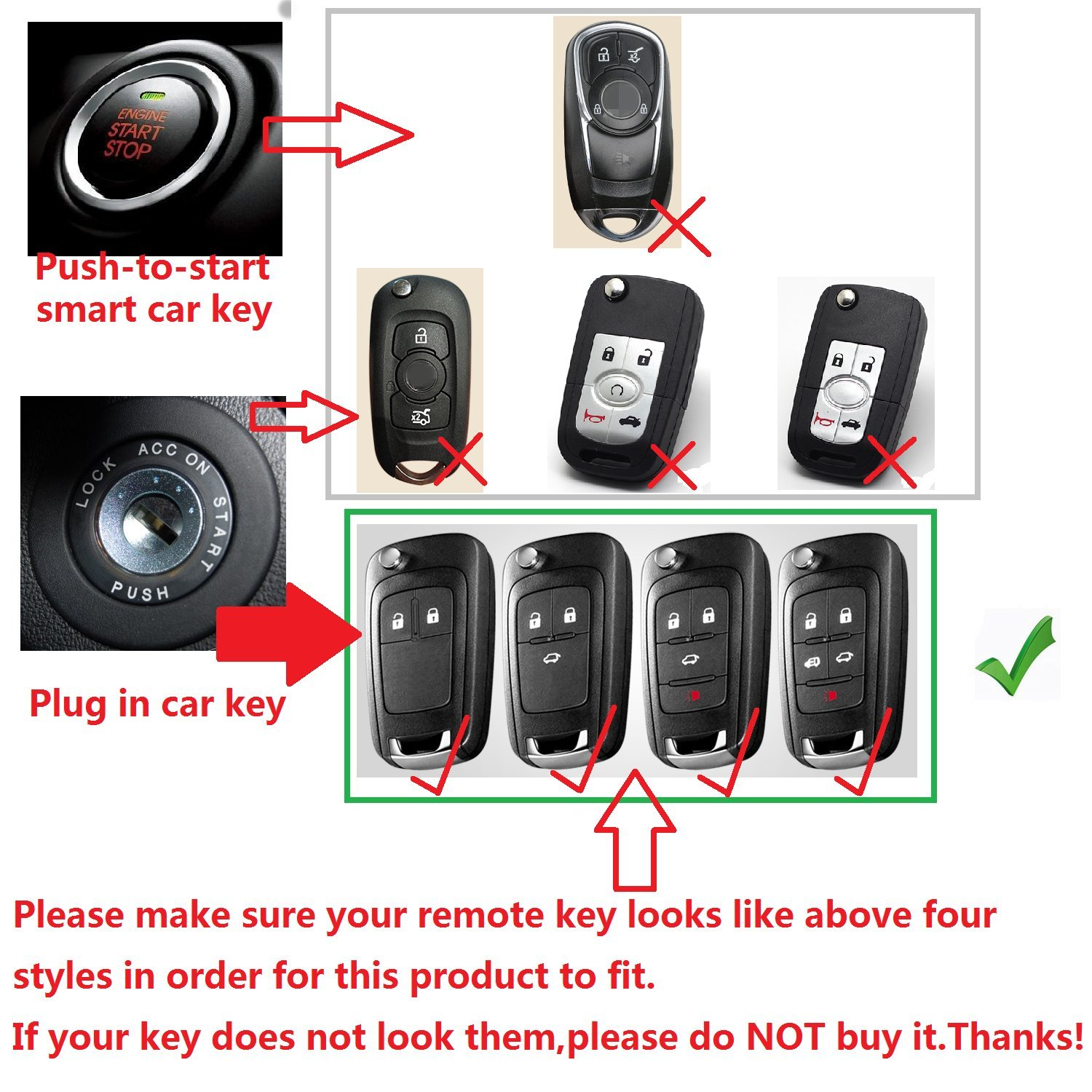 uxcell 5 Button Deep Blue Car Silicone Remote Key Cover Case Fob Protector for Buick
