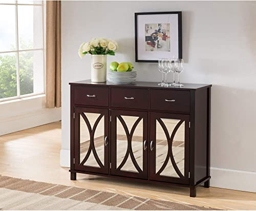Espresso Wood Sideboard Buffet Server Console Table