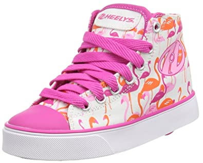 Heelys Veloz 770682, Sneakers Fille - Multicouleur - Multi (White/Pink/Flamingos), 39