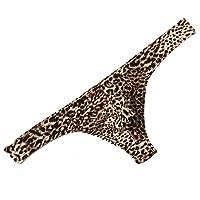 MuscleMate Hot Men's Leopard Print Thong G-String Underwear, Men's Leopard Print Thong Undie.