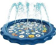 SplashEZ 3-in-1 Sprinkler for Kids, Splash Pad, and Wading Pool for Learning – Children's Sprinkler Pool, 60'' Inflatable Wa