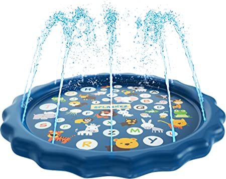and Wading Pool for Learning Splash Pad Details about  /SplashEZ 3-in-1 Sprinkler for Kids