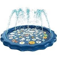 SplashEZ 3-in-1 Sprinkler for Kids, Splash Pad, and Wading Pool for Learning – Children...