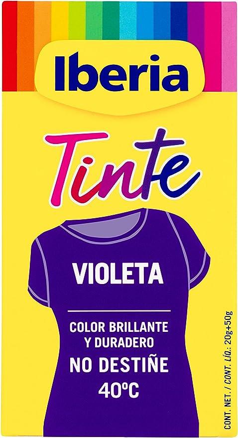Iberia - Tinte Violeta para ropa, 40°C