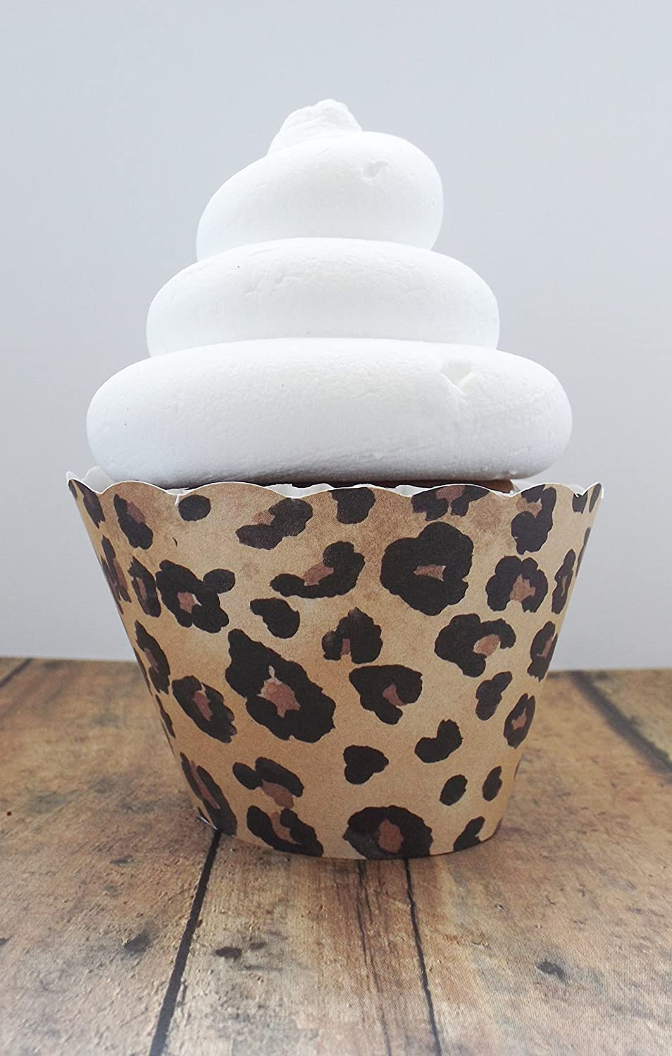 Leopard Cupcake Standard and Mini Sized Holders/Wrappers-Set of 12