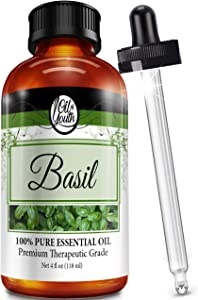 4oz Bulk Basil Essential Oil – Therapeutic Grade – Pure & Natural Basil Oil