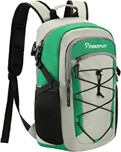 Piscifun Insulated Cooler Backpack, Leakproof Lightweight Cooler Bag, Soft Backpack Cooler for Men and Women Bag Cooler for Lunch, Picnic, Fishing, Hiking, Camping,Park, Day Trip