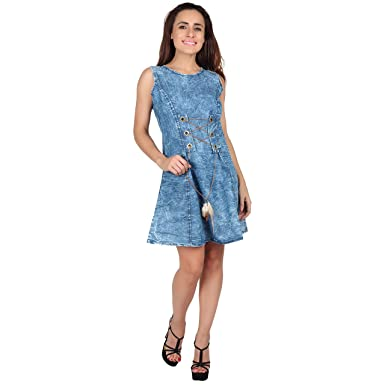 Meer India Garments Cut Sleeve Denim Middy For Women s  Amazon.in  Clothing    Accessories 9772ab6828