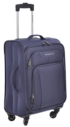 Amazon.com | Renwick Navy Blue 20 inch Carry On Rolling Suitcase ...