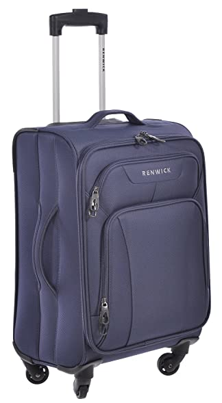 Renwick Navy Blue 20 Inch Carry On Rolling Suitcase With Extendable Handle