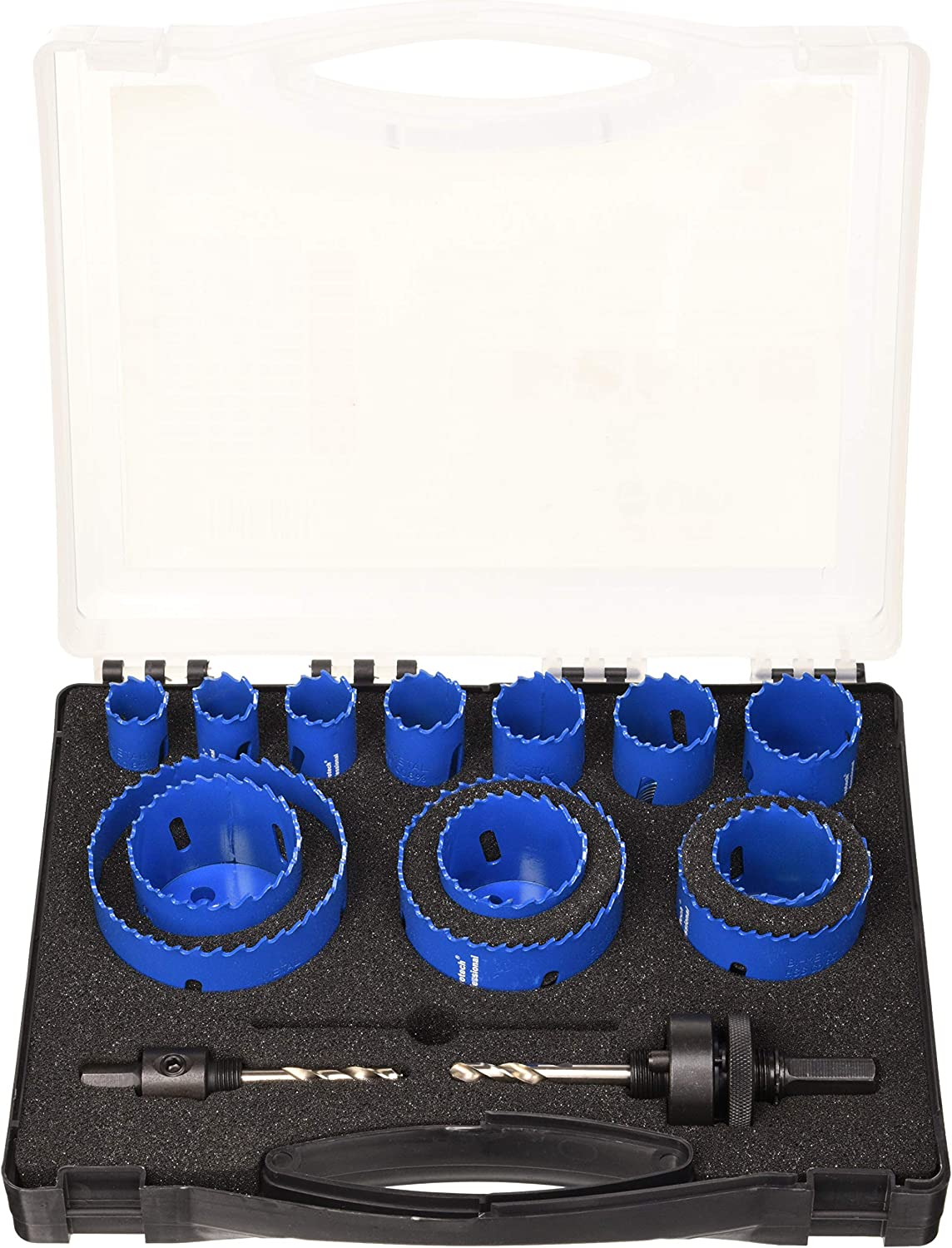 Blue FERROTECH Set of 13 Crowns M42 HSS 19-20-22-25-29-32-35-38-44-51-57-67-76 mm 19-76 mm 2 Drill Bit