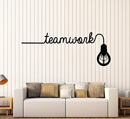 Vinyl Wall Decal Brain Idea Light Bulb Teamwork Office Decor Stickers Large  Decor (2408ig)