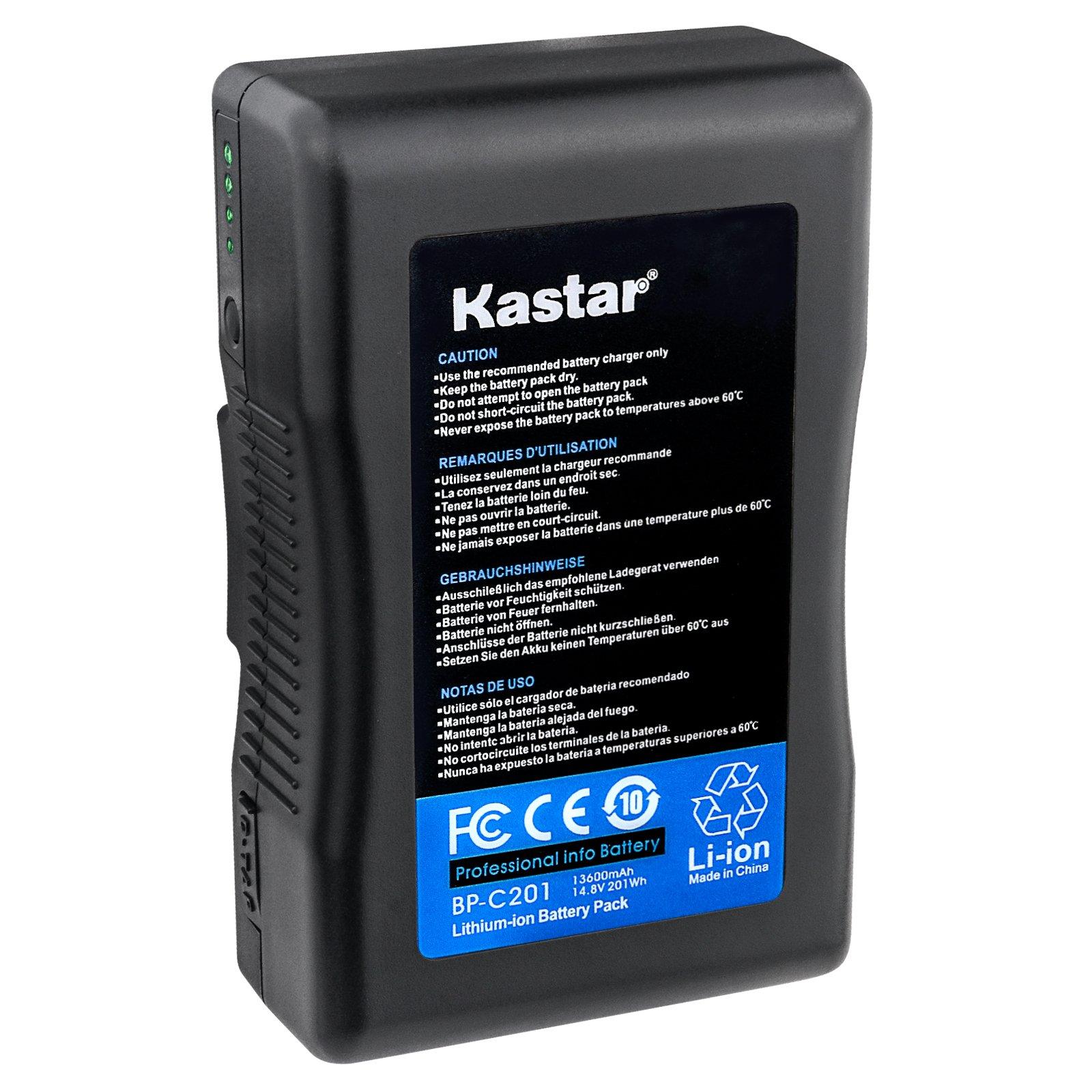 Kastar V-Mount BP-C201 Broadcast Replacement Li-ion Battery, 14.8V 13600mAh 201Wh for Anton Bauer CINE 90, ARRI Alexa Minicamera, AJA CION Camera Body, Blackmagic Design URSA camera, Cine Alta Camera