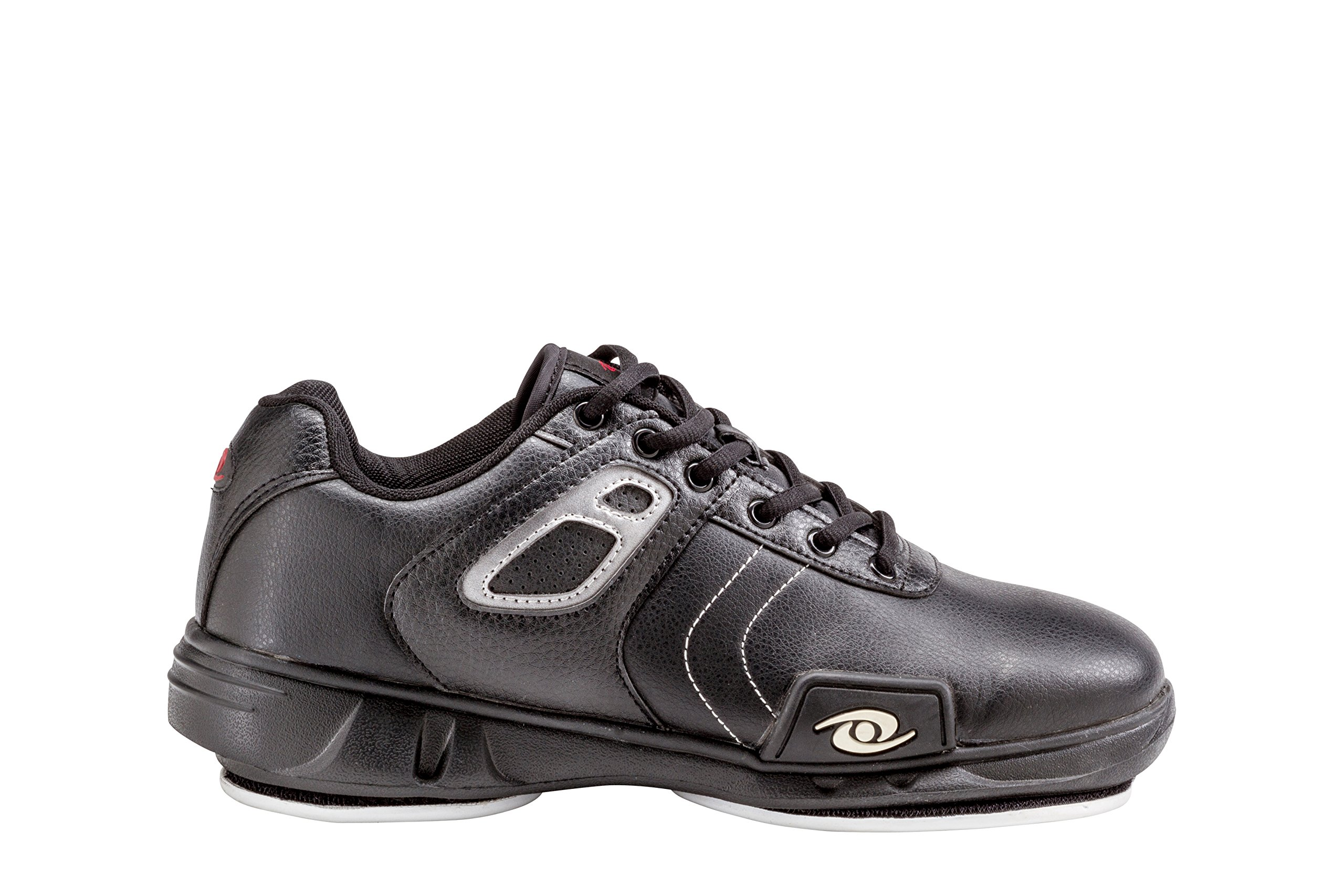 ACACIA 93-050 Hacker Curling Shoe, 5, Black/Silver