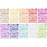 10 Colors Letter Stickers Self Adhesive Alphabet Stickers Self Adhesive Letters Gift,10 Sheets