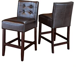 related image of             Christopher Knight Home Gregory Brown Leather Back
