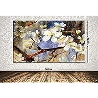 TabloCenter 100398421-100140 Dev Boyut Çiçek Kanvas Tablo, 100x140cm