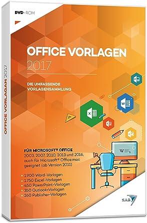 Office Vorlagen 2017 Amazon De Software