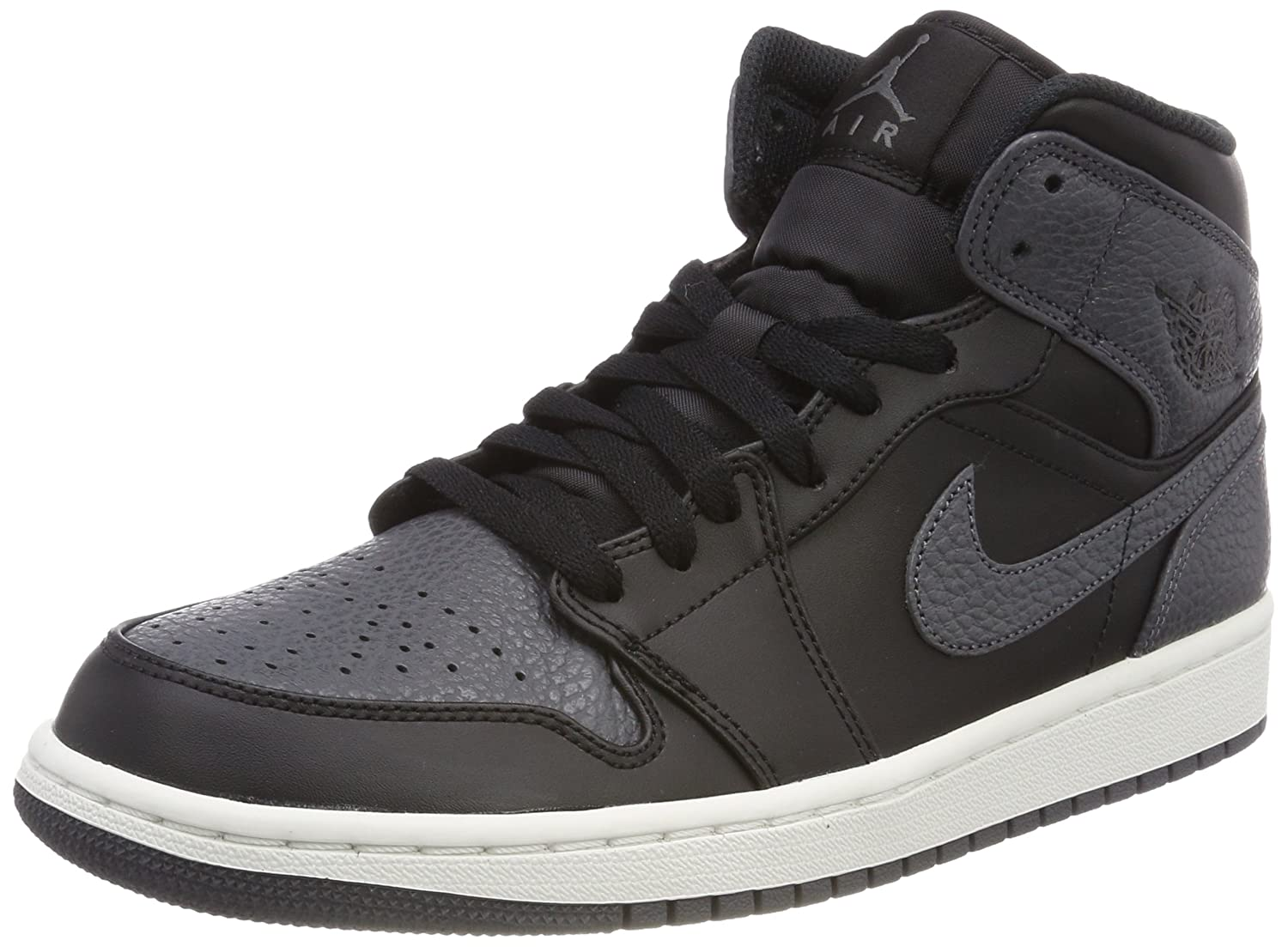 Black, dark grey-summit white Nike - AIR JORDAN 1 MID