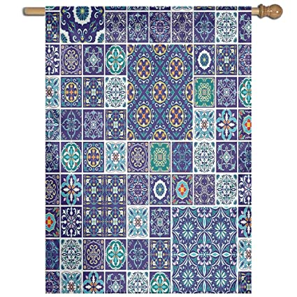 Amazon Huangling Traditional Mosaic Azulejo Portuguese Cultural