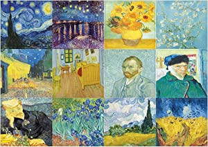 Creanoso Van Gogh Famous Paintings Stickers (10-Sheet) – Total 120 pcs (10 X 12pcs) Individual Small Size 2.1 x 2. Inches, Unique Designs DIY Decoration Art Decal for Children