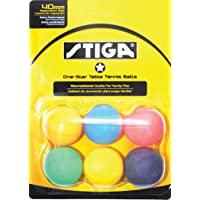 Stiga 1-Star Pelotas para Tenis de Mesa (Paquete de 6)